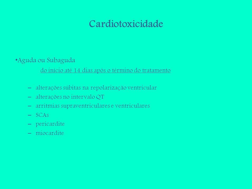 Cardiotoxicidade Aguda ou Subaguda