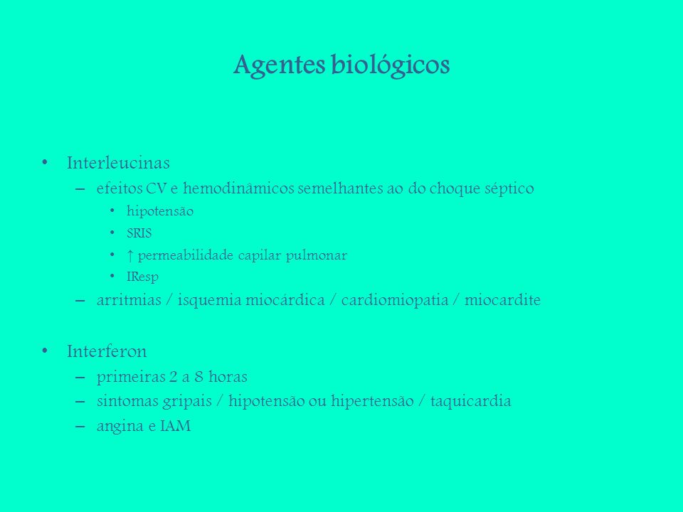 Agentes biológicos Interleucinas Interferon