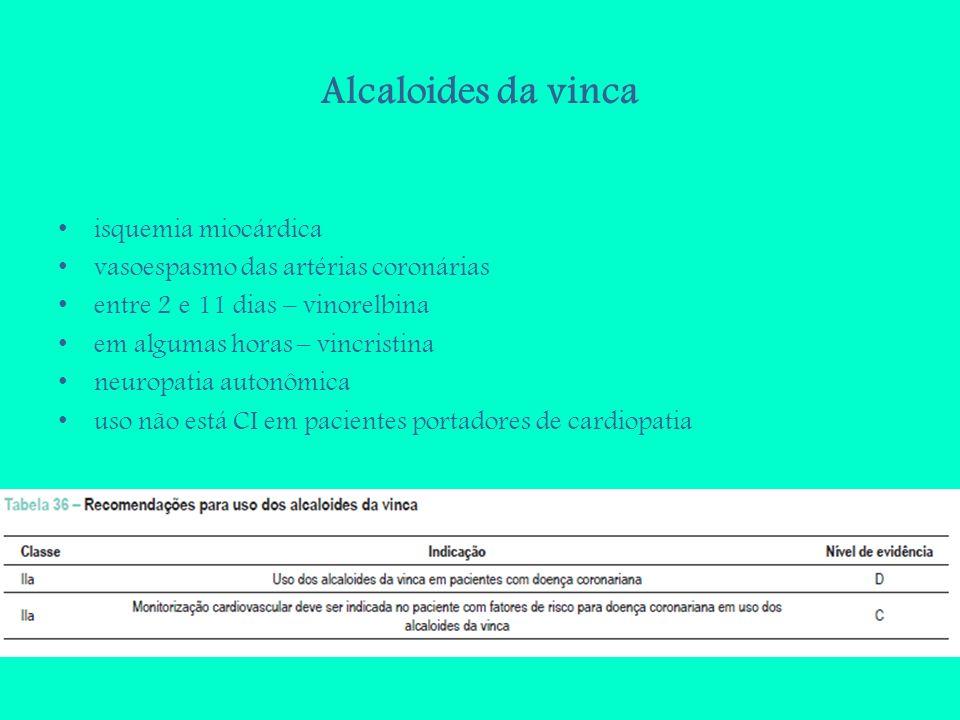 Alcaloides da vinca isquemia miocárdica