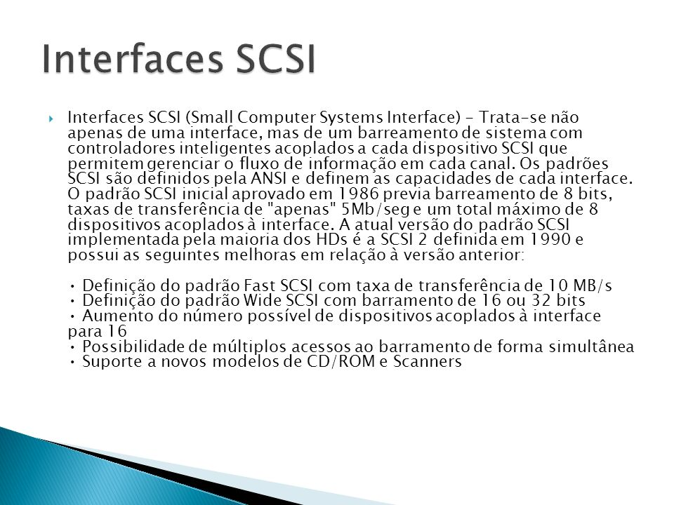 Interfaces SCSI