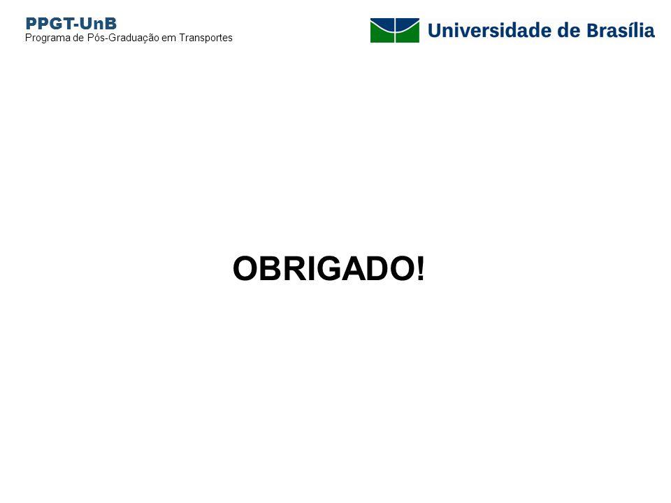 PPGT-UnB Programa de Pós-Graduação em Transportes OBRIGADO!
