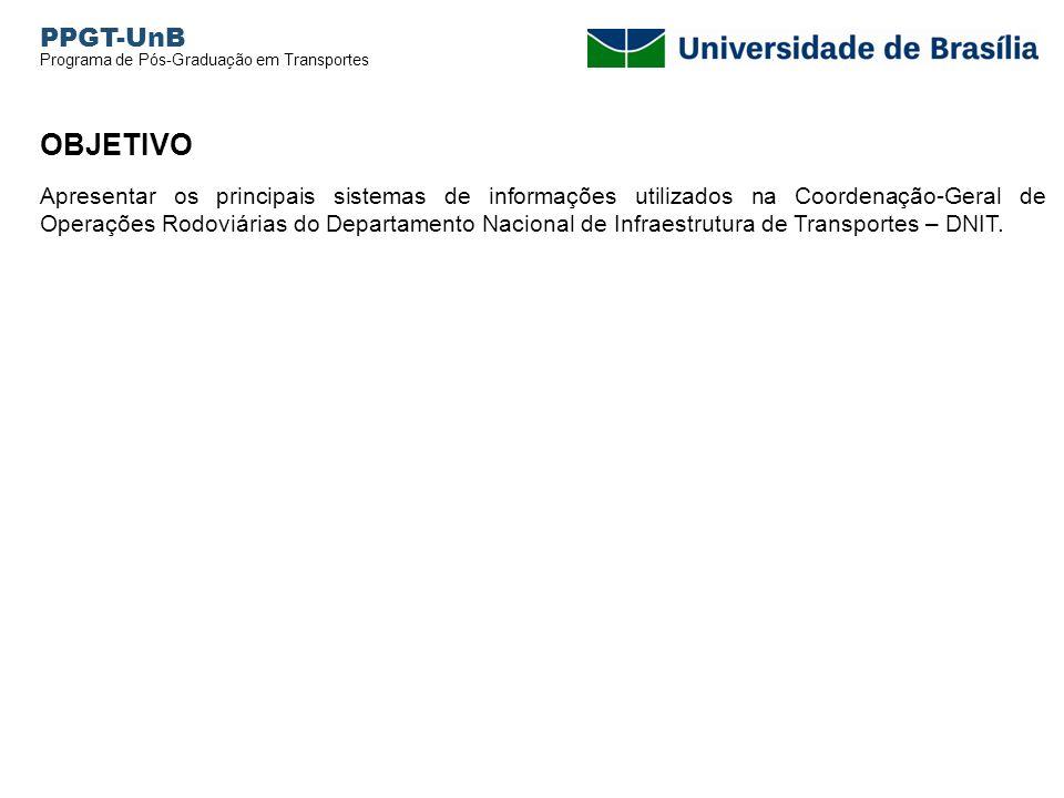 PPGT-UnB Programa de Pós-Graduação em Transportes. OBJETIVO.