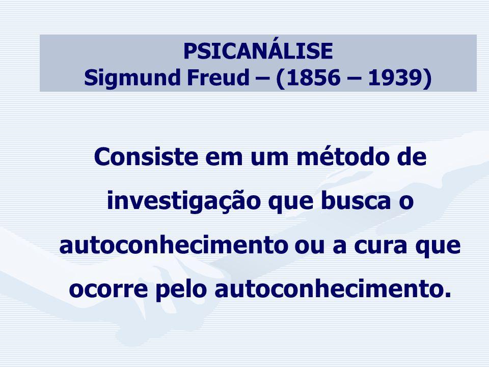 PSICANÁLISE Sigmund Freud – (1856 – 1939)