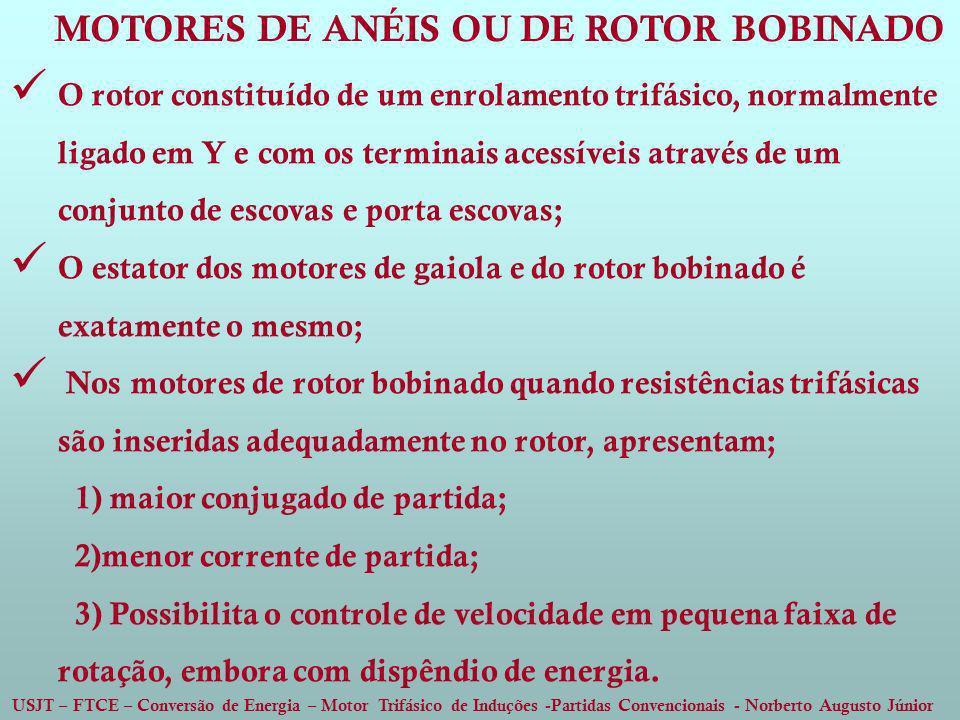 MOTORES DE ANÉIS OU DE ROTOR BOBINADO
