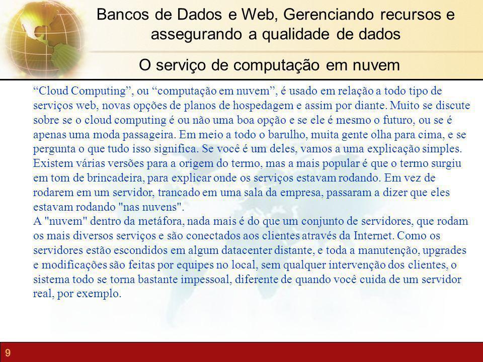 O serviço de computação em nuvem