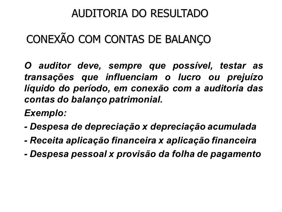 CONEXÃO COM CONTAS DE BALANÇO