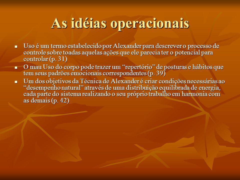As idéias operacionais