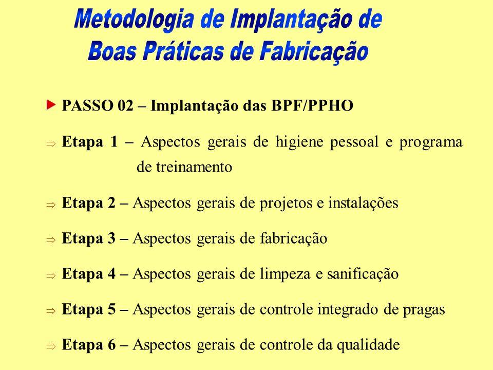 Metodologia de Implantação de Boas Práticas de Fabricação