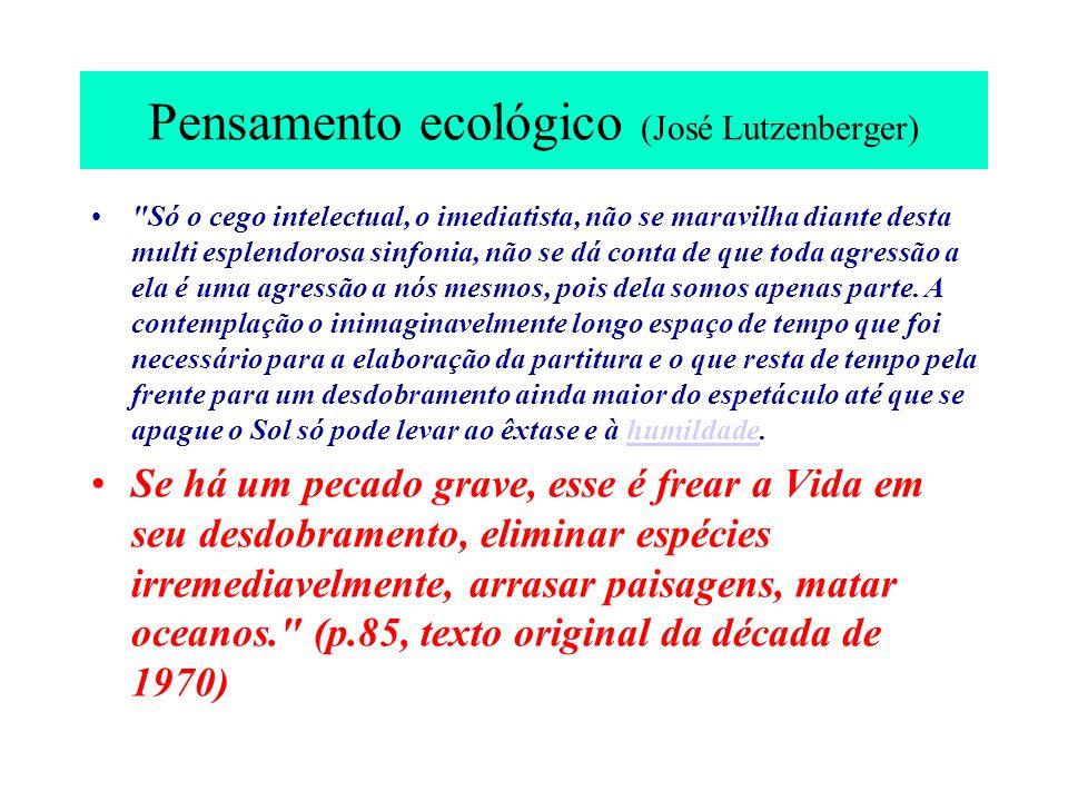 Pensamento ecológico (José Lutzenberger)