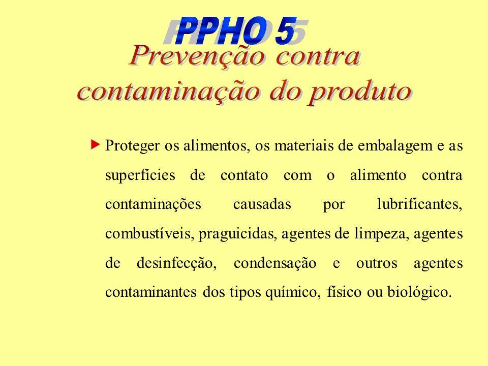 contaminação do produto