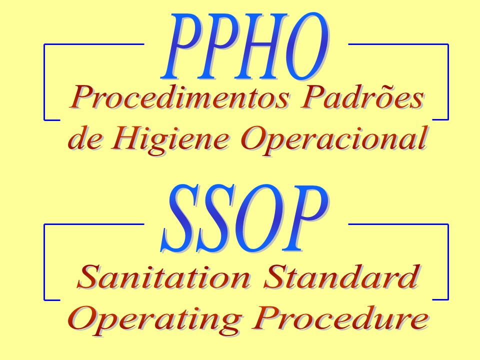 Procedimentos Padrões de Higiene Operacional