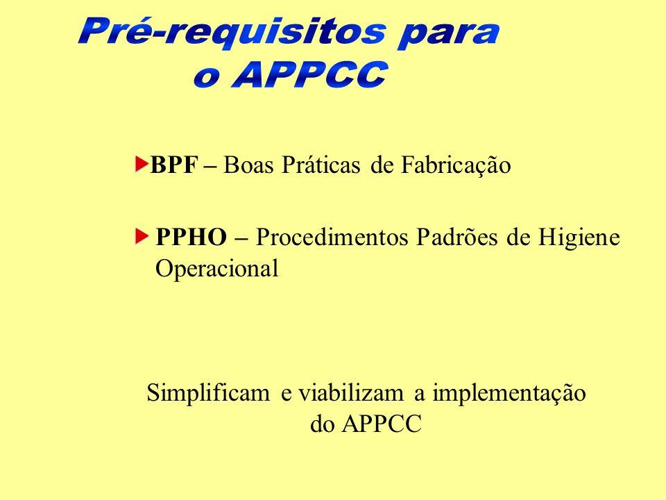 Simplificam e viabilizam a implementação do APPCC