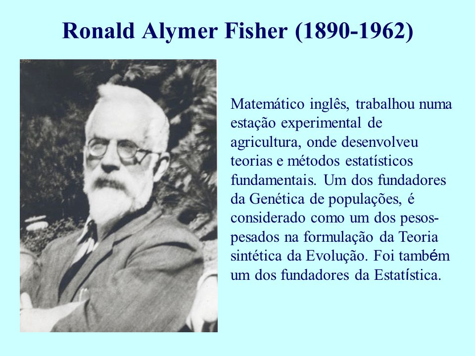 Ronald Alymer Fisher (1890-1962)