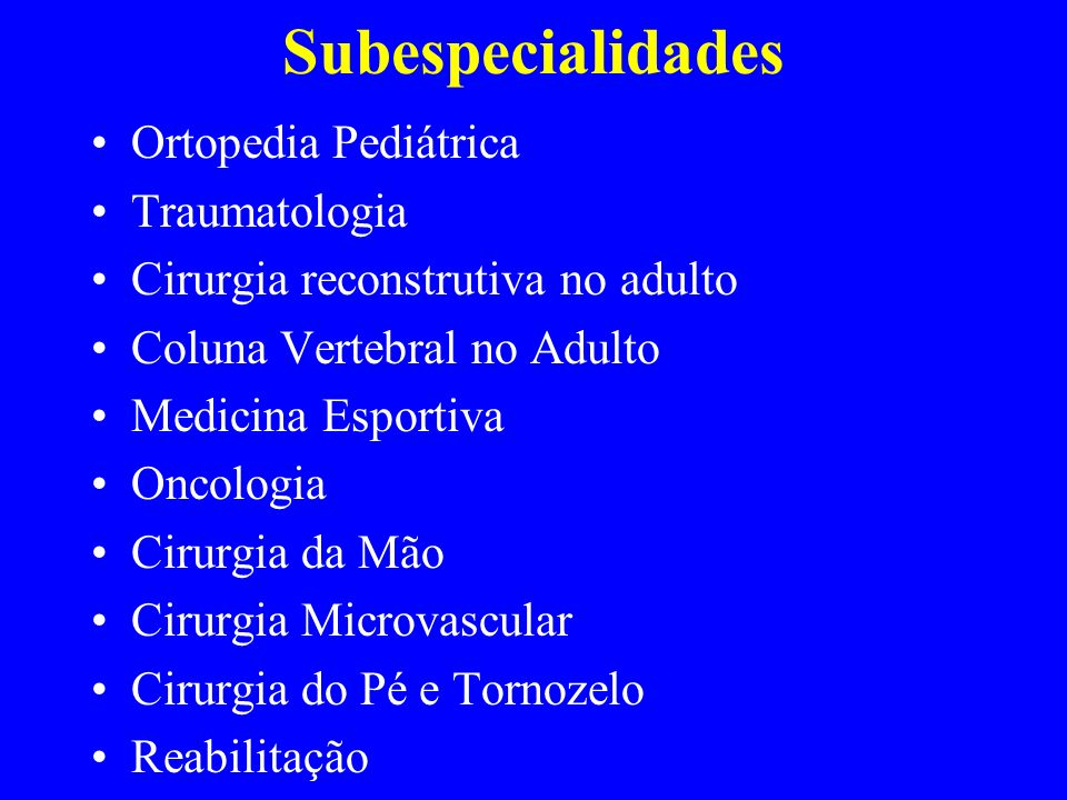 Subespecialidades Ortopedia Pediátrica Traumatologia