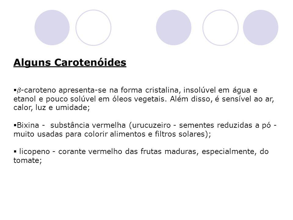 Alguns Carotenóides