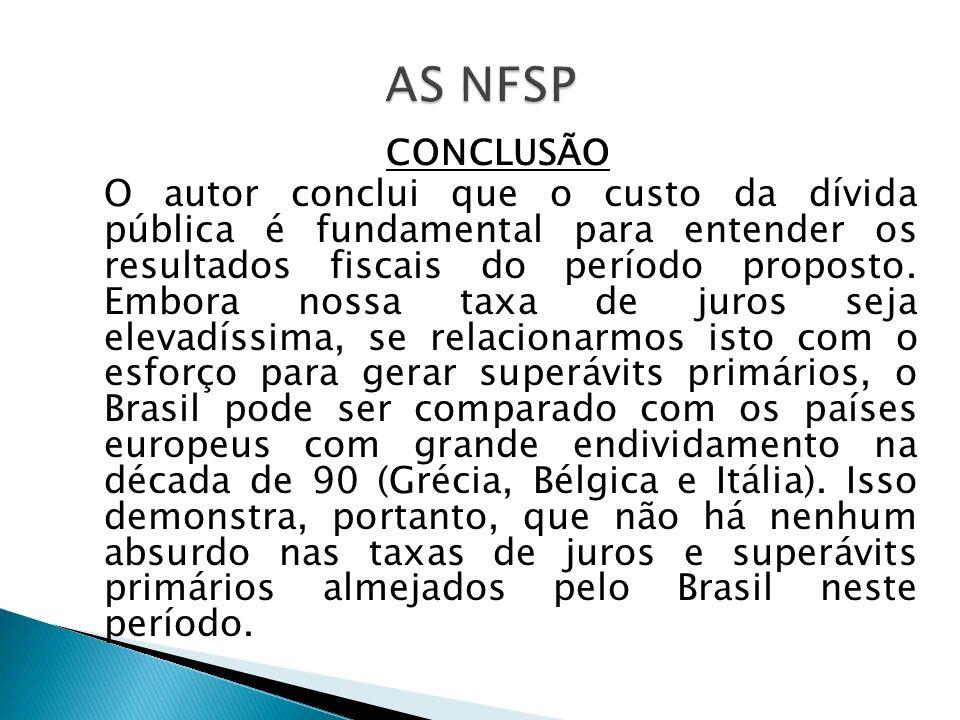AS NFSP CONCLUSÃO.