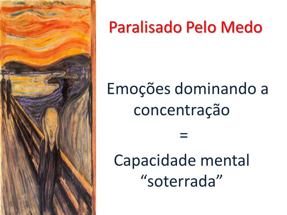 Emoções dominando a concentração = Capacidade mental soterrada