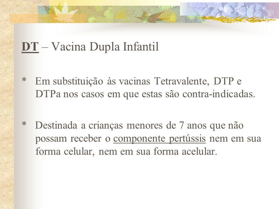 DT – Vacina Dupla Infantil