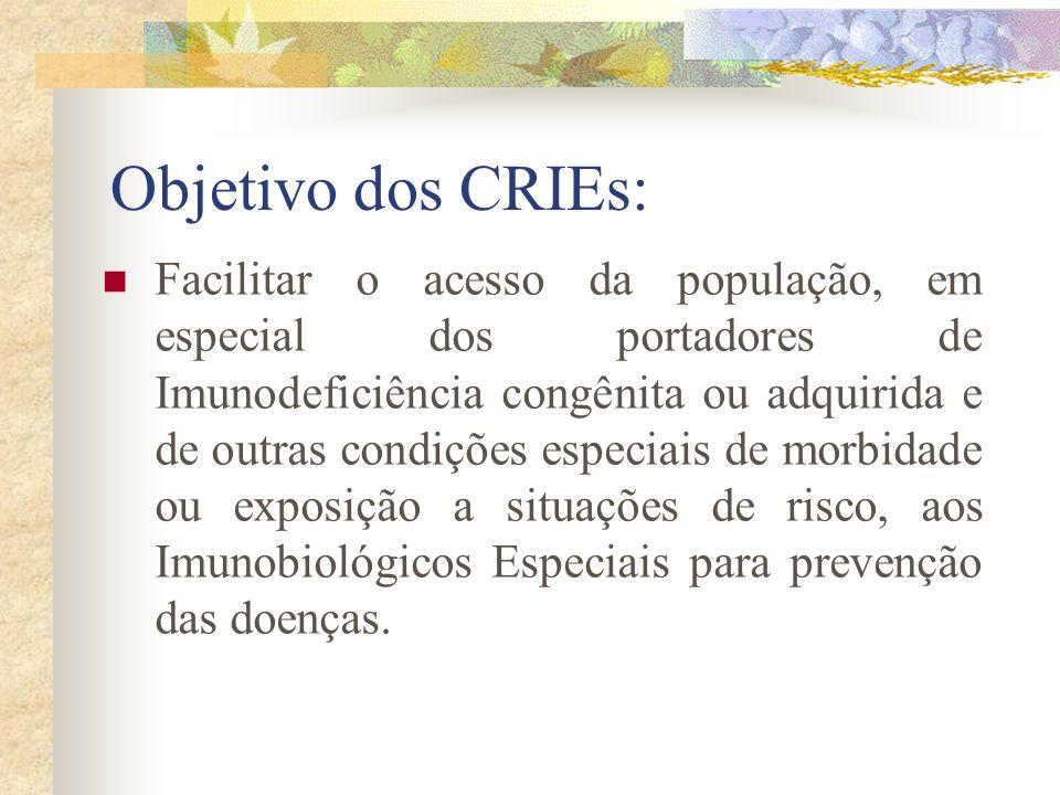 Objetivo dos CRIEs: