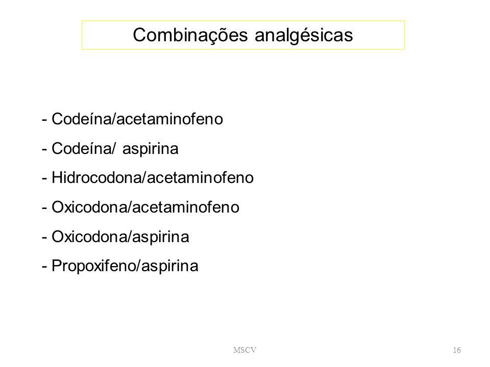 Combinações analgésicas