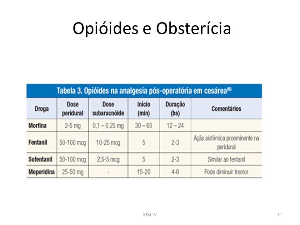 Opióides e Obsterícia MSCV