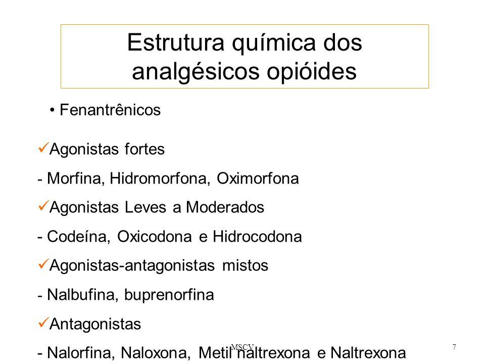 Estrutura química dos analgésicos opióides