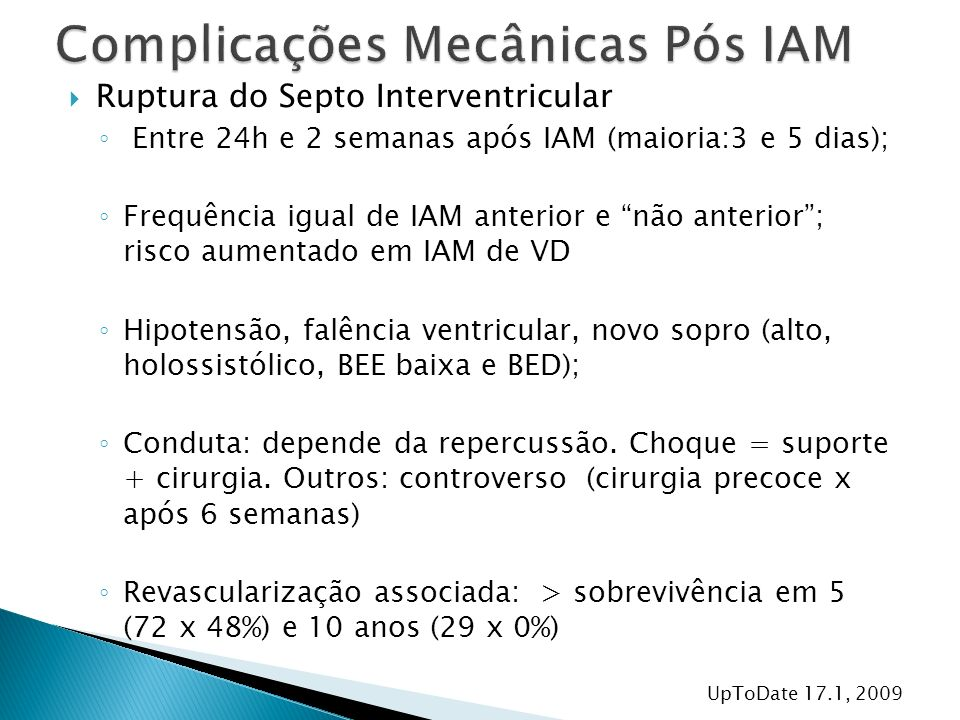 Complicações Mecânicas Pós IAM