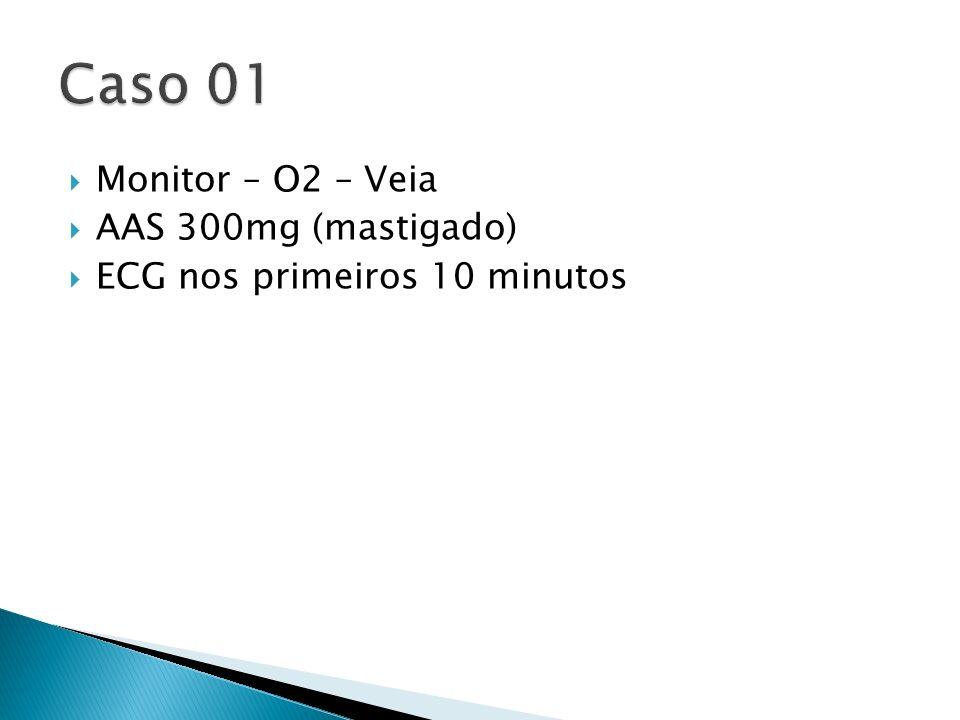 Caso 01 Monitor – O2 – Veia AAS 300mg (mastigado)