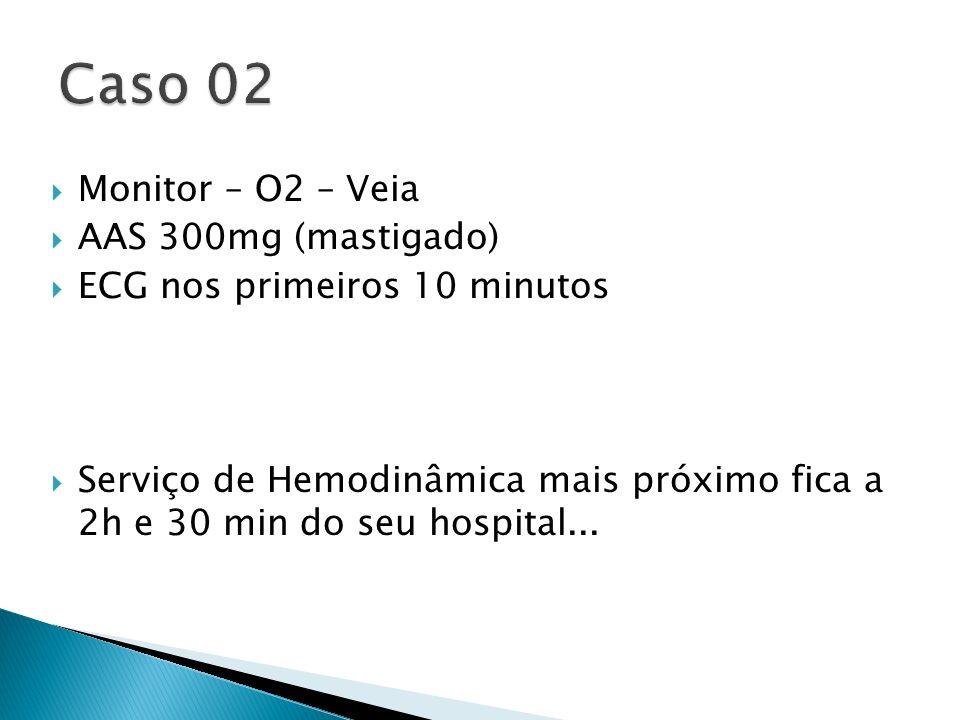 Caso 02 Monitor – O2 – Veia AAS 300mg (mastigado)
