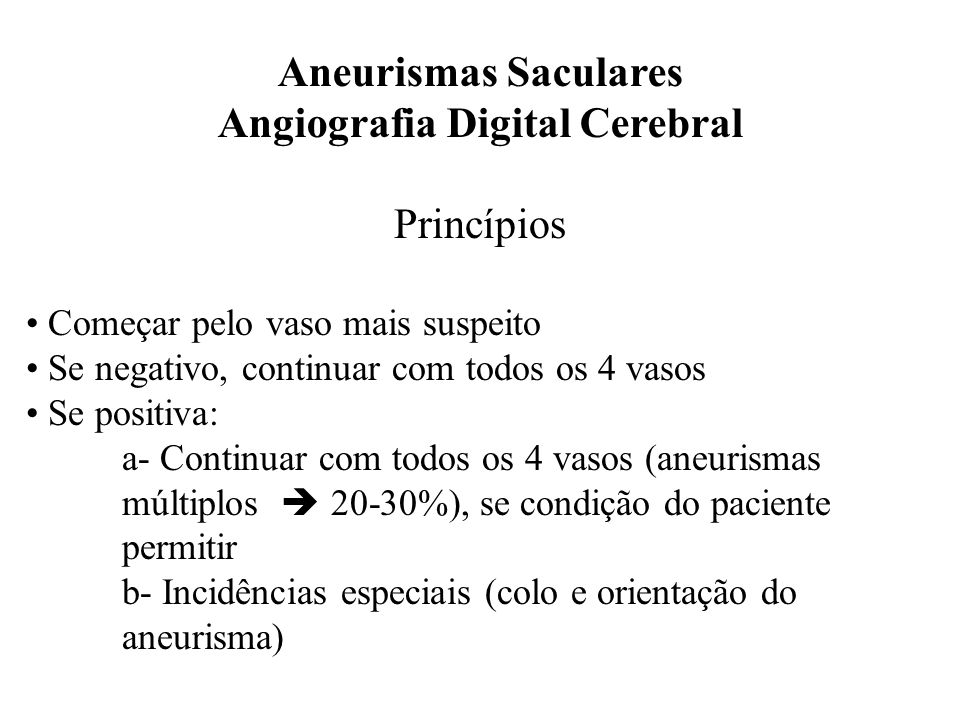 Angiografia Digital Cerebral