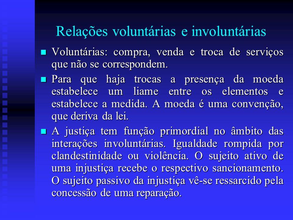 Relações voluntárias e involuntárias