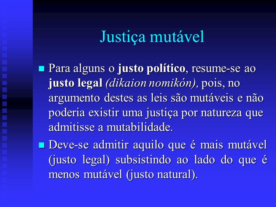 Justiça mutável