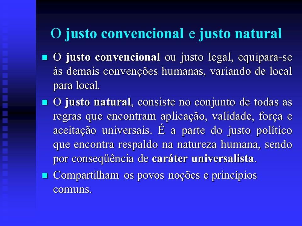 O justo convencional e justo natural