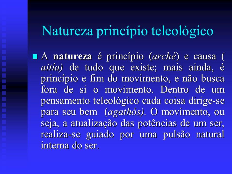 Natureza princípio teleológico