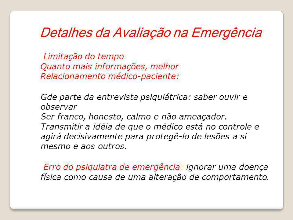 Detalhes da Avaliação na Emergência