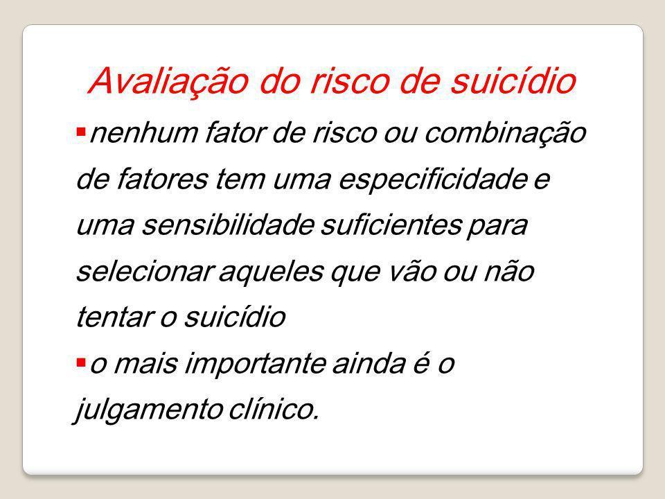 Avaliação do risco de suicídio