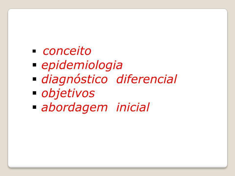 diagnóstico diferencial objetivos abordagem inicial