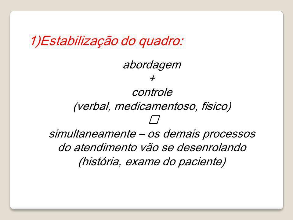 1)Estabilização do quadro: