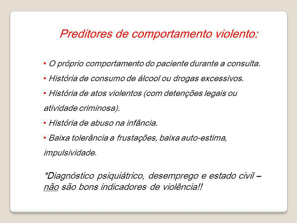 Preditores de comportamento violento: