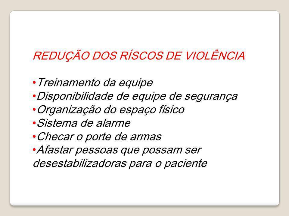REDUÇÃO DOS RÍSCOS DE VIOLÊNCIA