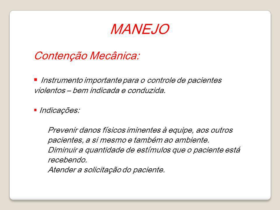 MANEJO Contenção Mecânica: