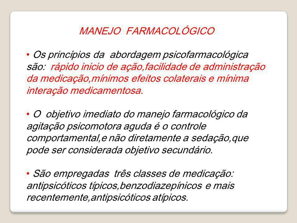 MANEJO FARMACOLÓGICO