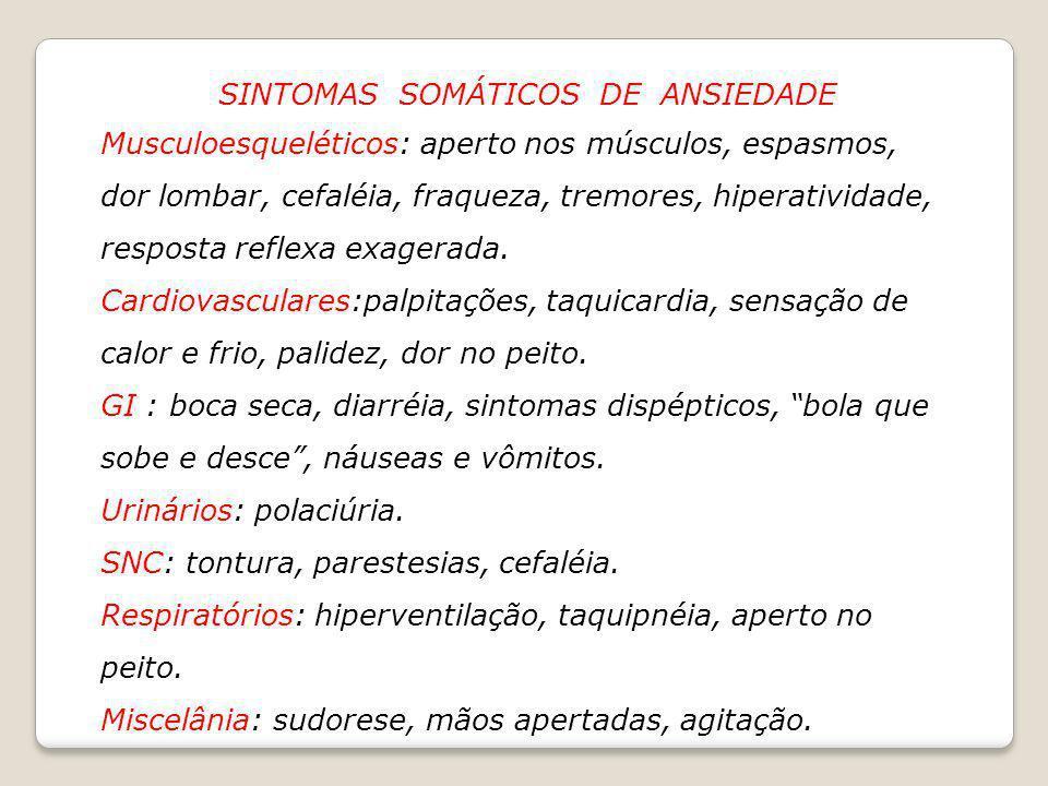 SINTOMAS SOMÁTICOS DE ANSIEDADE