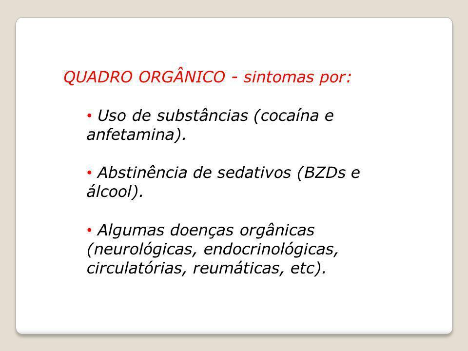 QUADRO ORGÂNICO - sintomas por: