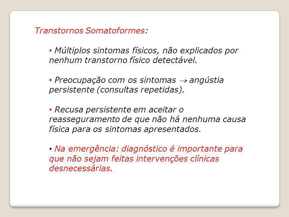Transtornos Somatoformes: