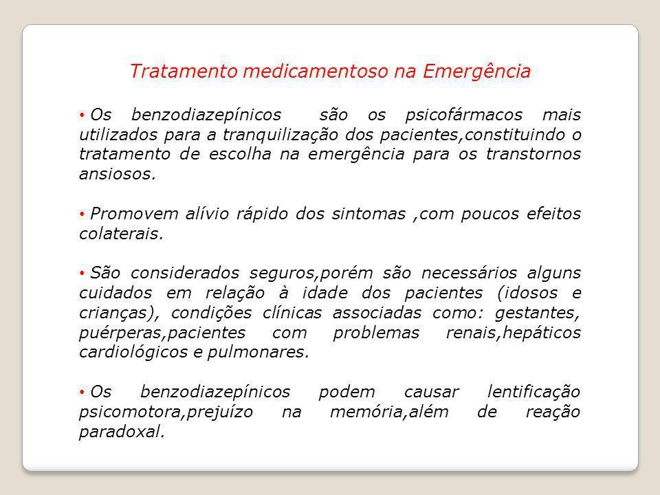 Tratamento medicamentoso na Emergência