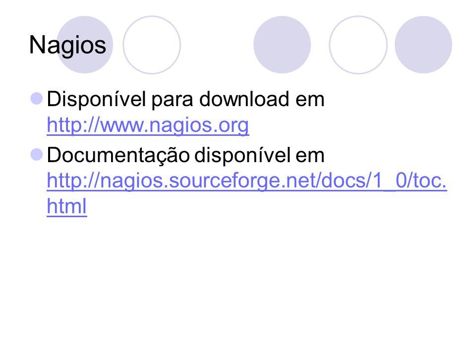 Nagios Disponível para download em http://www.nagios.org
