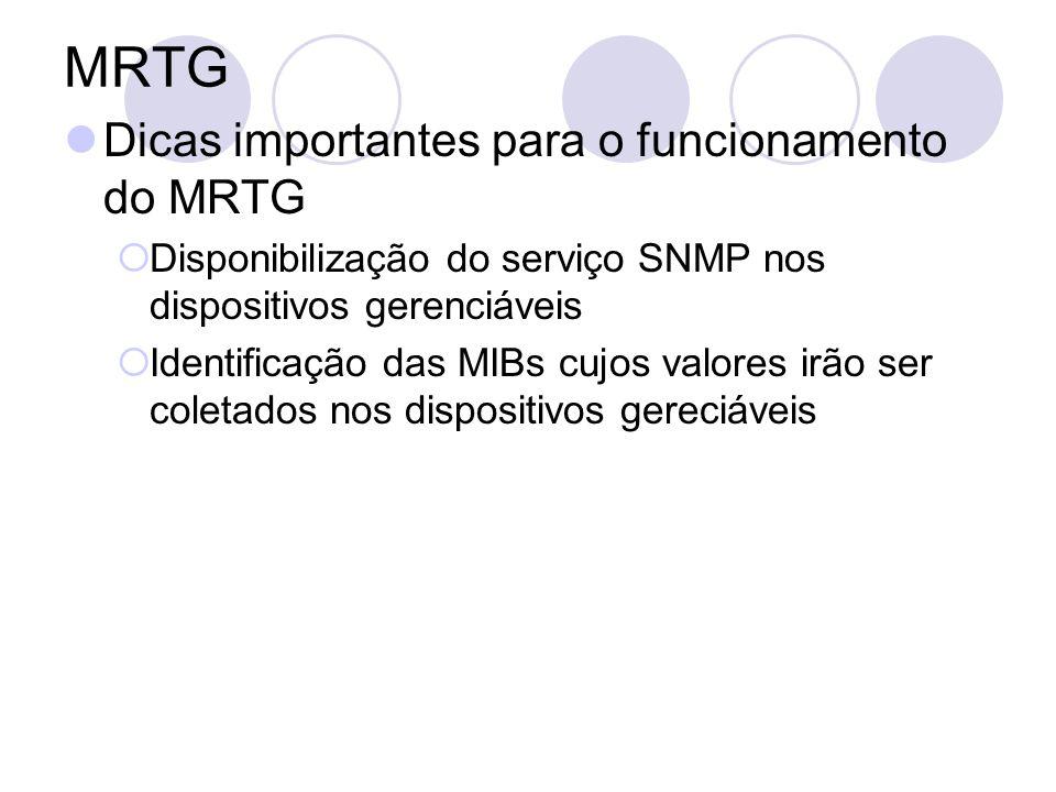 MRTG Dicas importantes para o funcionamento do MRTG