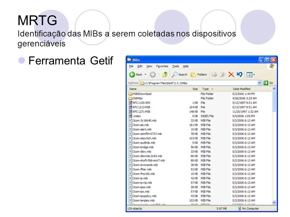 MRTG Identificação das MIBs a serem coletadas nos dispositivos gerenciáveis