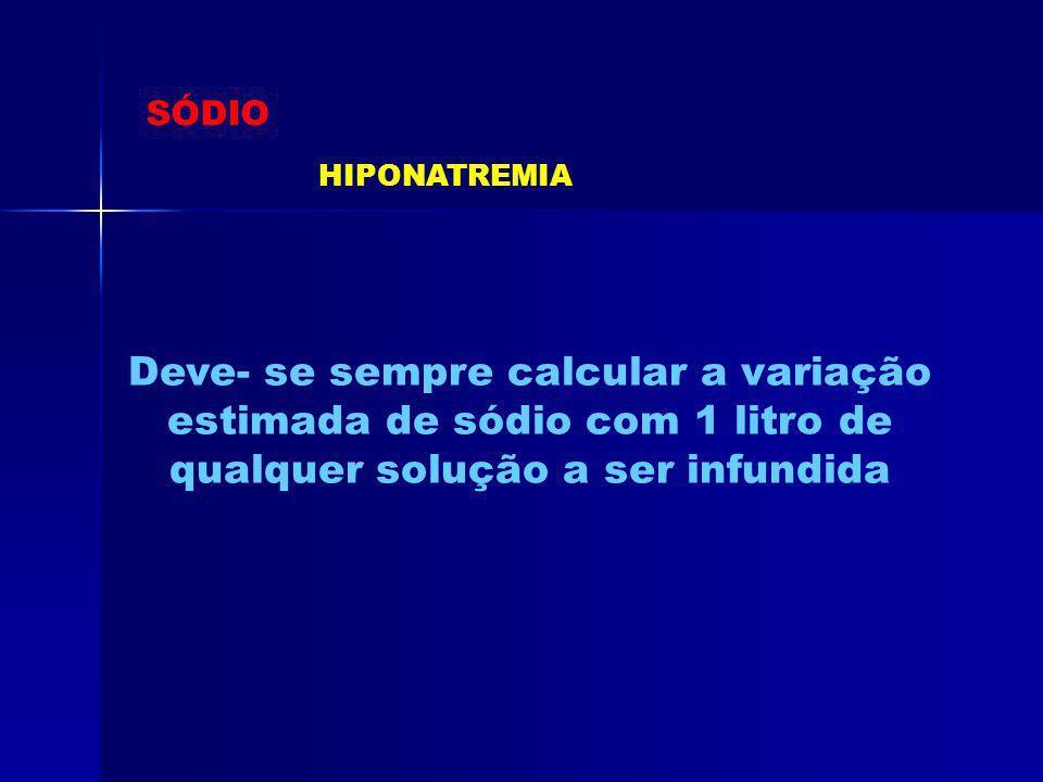 SÓDIO HIPONATREMIA.